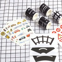Wholesale hot selling diy toys for sale - Group buy Hot Selling Kids Toy Car Railway Road Creative Traffic Road Adhesive Masking Tape Removable Play Room DIY Track Floor Sticker