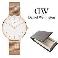dw часы оптовых-Новая тенденция Девушки Стальная полоса Даниэль Веллингтон часы 32 мм женские часы Роскошные кварцевые часы DW Часы Relogio Feminino Montre Femme