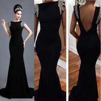 Vestidos de fiesta negro y plata