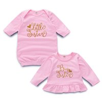 kardeş giysileri toptan satış-Çocuklar Kardeş Uyku Tulumu Pijama Çocuk Giyim Çocuk Giysi Tasarımcısı Kızlar Mektup Mektup Baskı Bebek Battaniye Kardeş Kıyafetler 43