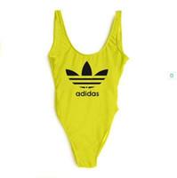 alta qualidade mulheres s de banho venda por atacado-Luxo One-piece Womens Maiôs Marca Bikini com Carta A02 One-piece Swimwear para Mulheres Designer Sexy Bikini 6 Cor de Alta qualidade