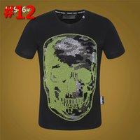 ingrosso shirt in vendita-Mens T Shirt Slim Fit cranio maglietta casuale degli uomini T-shirt manica corta Top Punisher divertente maglietta rapida essiccazione fitness vendita calda
