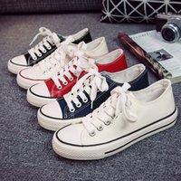 männer sommer mode straße schuhe großhandel-Women Fashion Casual Segeltuchschuhe Korea Ulzzang Anti-Rutsch Männer Sommer Plimsolls Street Skate Sneakers Rugged Board Schuhe