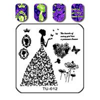 impressão de unhas 3d venda por atacado-Prego Carimbar Placa 6 * 6 cm 3d Diy Projeto Quadrado Estêncil Manicure Nail Art Imagem Konad Estampagem Manicure Beleza
