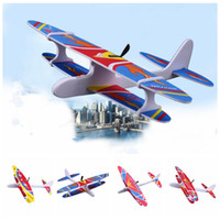 Wholesale glider toys online - 4styles Kids Electric Aircraft Toy Airplane Model Hand Throw Plane Foam Launch Flying Glider Plane Children Outdoor Toy party favor FFA2015