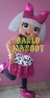 bilder rosa kostüm großhandel-Neue Stil Erwachsene Nette MARKE Cartoon Tier GOLD LOL Puppe Mädchen baby puppenkind Maskottchen Kostüm Abendkleid Heißer Verkauf Party kostüm Freies schiff