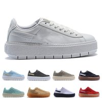 Wholesale girl casual lace shoes resale online - 2019 New Fashion designer sneakers rihanna s Shoes For Women Trainers Casual Shoes Designer Girl Sneakers Sports Shoes Size