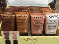 ingrosso bb up-NYX Liquid Foundation Face Concealer Makeup nato per illuminare l'illuminatore liquido BB Cream Make Up Powder Cosmetics Cura della pelle 18ml