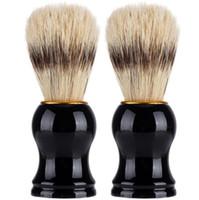ingrosso barbiere di barba-Pennello da barba da uomo in tasso Barber Salon Uomo barba facciale apparecchio di pulizia Strumento barba barba pennello pulizia LJJK1605