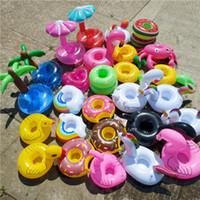 banho inflável da associação do bebê venda por atacado-Piscina Flutua Bebidas Venda Quente no Verão Praia PVC Beber Inflável Copo Titular Coasters Bebê Brinquedos Do Banho