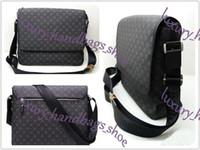 bolso de la escuela de moda hombre al por mayor-Hot Classic fashion men messenger bags cross body bag school bookbag 41213 con bolsa de polvo