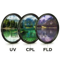 pentax lensler toptan satış-49 MM 52 MM 55 MM 58 MM 62 MM 67 MM 72 MM 77 MM 77 MM UV + CPL + FLD 3 1 Lens Filtre Seti Canon Nikon Sony Pentax için Kamera Lensi ile Lens