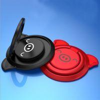 schwein handyhalter großhandel-Niedliche Schweinringschnalle Geschenk magnetische Autotelefonhalter Mode kreative tragbare Superkleber mobile Halterung