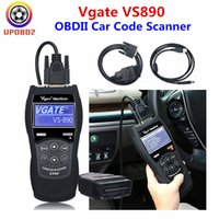 Wholesale car obd tool resale online - OBDII Car Code Scanner Vgate VS890 OBD2 Scanner Vgate VS890 Auto Diagnostic Tool Universal OBD VS Scan Support Multi Brand
