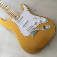 Wholesale chinese rosewood guitar for sale - Group buy Chinese factory electric guitar cream yellow guitar
