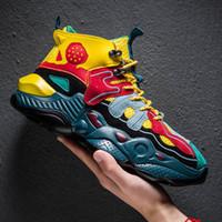 zapatos de hip hop para hombres al por mayor-Zapatillas de baloncesto Hip Hop Hombre Suela gruesa Lebron Sneaker Retro Street Dance Tide Brand Back To The Tenis De Basquete Boost Future