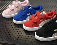 ventas de invierno zapatos para correr al por mayor-2019 VENTA caliente Cuatro colores Niño y niña zapatos de invierno Diseñador de moda Niños Zapatillas Calzado individual Tamaño 26-35