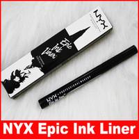 lapices de tinta al por mayor-delineador de ojos líquido NYX de Epic tinta lápiz delineador Liner Negro Headed lápiz delineador de ojos maquillaje de color Negro