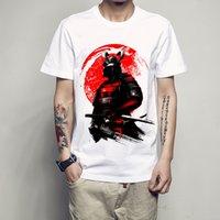 ingrosso top samurai-moda uomo manica corta Giappone Samurai Warrior t-shirt Harajuku maglietta divertente magliette hipster O-collo cool top