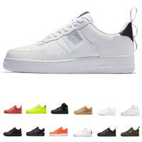 ingrosso calzature di alta sportive marrone-Nike air forces shoes Scarpe casual One 1 Dunk all Nero Bianco Uomo Donna Sport Skateboarding High Low Cut Marrone scuro scarpe da ginnastica da ginnastica 36-45
