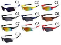 Wholesale bicycle sports sun glasses resale online - Summer Newest Style Only Sun Glasses Colors Sunglasses Men Bicycle Glass Nice Sports Sunglasses Dazzle Colour Glasses MOQ Pairs