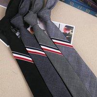 узкие серые галстуки оптовых-свадебное платье и досуг колледж черный серый вариант узких трехцветные галстука 5 см у мужчин и женщин полосы галстук