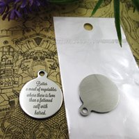 Wholesale vegetable charms resale online - 40pcs quot Better a meal of vegetables where there is love quot stainless steel charms more style for choosing DIY Charms pendants for necklace