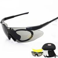 armee militärische rahmen großhandel-2018 männer Sonnenbrille Military 3 Objektiv Schutzbrille Tactical Army Brille TR90 Rahmen Outdoor Jagd Kampf Wargame Motorrad