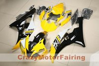 Wholesale yamaha r6 yellow plastics resale online - New ABS Molding motorcycle plastic Fairings Kits Fit For YAMAHA YZF R6 Fairing bodywork set custom cool yellow black