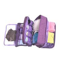 chaussettes achat en gros de-Sac de rangement de grande capacité de soutien-gorge sac de tri organisateur pour le voyage chaussettes cosmétiques tiroir placard pochette 6 couleurs MMA2248