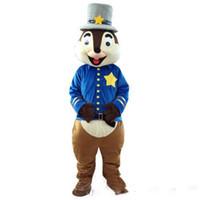ingrosso costume da abito scoiattolo-2019 di alta qualità simpatico scoiattolo mascotte costumi di compleanno festa a tema scoiattolo ragazzo costumi carnevale fancy dress mascotte