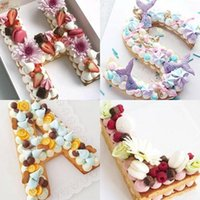 Wholesale white cakes for sale - Group buy PET Cake Mold Letter Number Shape Cakes Baking Moulds Letters LOVE Milky White Pattern Die Hot Selling sy4 L1