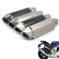 silenciadores de tubos de escape universais venda por atacado-Universal Fibra da motocicleta Tubulação de exaustão do silencioso Motorbike Exhaust Modificado pipe para GSXR 600 750 1000