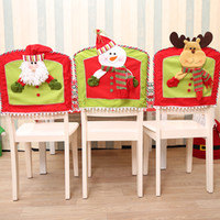 Wholesale kitchen chair set resale online - Adornos Navidad Christmas Santa Claus Snowman Deer Dolls Dining Chair Sets Kitchen Decoration For The Family