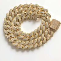Wholesale 26inch chain for sale - Group buy 16Inch Inch New Lock Clasp mm Heavy Iced Out Cuban Chains Necklace
