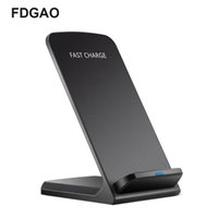 Wholesale samsung fast charge wireless charging pad online – FDGAO Fast W Wireless Charger Induction Charging Pad For Samsung Note8 S9 S8 Portable Dock Charger For iPhone X XS XR Plus
