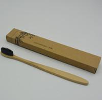 mode zahnbürste großhandel-Neueste Mode Bambuszahnbürste Umweltzahnbürste Bambuszahnbürste Weiche Nylon Bambuszahnbürsten für Hotel