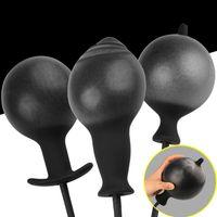 vibrador de bola anal venda por atacado-Grande Inflável Enorme Vibrador Grande Plugue Anal (max 12 cm) Ar-enchido Bomba Dildo Dilatador Anal Não Vibrador Butt Plug Anal Bolas Y19070102