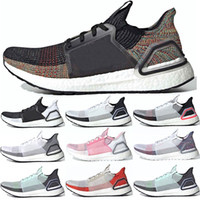 lazerler satışı toptan satış-Adidas Ultra Boost 19 2019 Ultra Boost Erkek Kadın Koşu Ayakkabıları UltraBoost 5.0 Lazer Kırmızı Koyu Piksel Siyah Beyaz Oreo Trainer Spor Sneaker Online Satış
