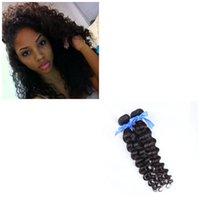 gevşek atkı saç uzantısı toptan satış-9A Kalite 2 Demetleri Bakire Brezilyalı Gevşek Kıvırcık Derin Kıvırcık Saç Atkı İnsan Saç Parça Doğal Saç Uzantıları
