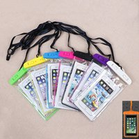 Wholesale clip bag locks resale online - Luminous Waterproof PVC Dry Bags Universal Fluorescent Water resistant Cases Pouch Sleeve with Neck Strap Snap Lock Clamp for iPhone Samsung