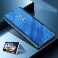 flip flip achat en gros de-Clear View Smart Case Téléphone Miroir Pour iPhone X XS MAX XR 8 7 Plus Cas De Mode Flip Stand En Cuir Couverture Pour iphone 6 6s Coque