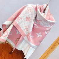 bufandas de seda de gran tamaño al por mayor-bufanda de las mujeres de gran tamaño envuelto en el chal a cuadros de invierno bufanda de cachemira bufanda babero manta de moda y envuelto en lana de seda G8LV