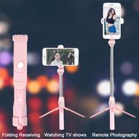 stativ für samsung großhandel-Bluetooth ausziehbares Selfie Stick Stativ mit drahtloser Fernbedienung und Einbeinstativ für Samsung Huawei xiaomi iPhone X