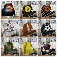 Wholesale soccer beds resale online - Baseball Blankets cm Softball Soccer Football Blanket D Printed Swaddling Towel Sports Carpet Sofa Bedding Sheet Quilt