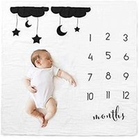 Wholesale balloon photography backdrops for sale - Group buy Newborn Baby Milestone Number Balloon Pattern Mat Blanket Photography Background Backdrop Cloth