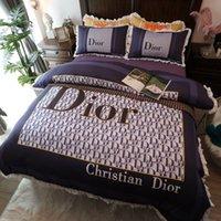 Wholesale romantic bedding duvet sets resale online - 2020 C D luxury bedding sets romantic designer duvet cover set cotton designer bed sheets queen size bed sets designer bedding