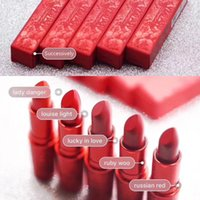 Wholesale good lipstick brands resale online - Good quality color Brand lucky red matte lipstick New Spring Festival lipstick lucky in love lotus light russian red ruby woo lady danger