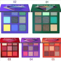 ko großhandel-Cmaadu 9color Make-up Lidschatten-Palette Diamant Lidschatten Shimmer Lidschatten-Set 5 Stile Augen Make-up