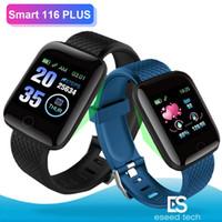 rastreador de maçã venda por atacado-116 plus smart watch pulseira de fitness rastreador de freqüência cardíaca passo contador de atividade monitor de banda pulseira pk 115 plus para apple samsung android